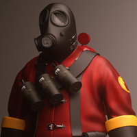 Freebie: Epic 3D Character Model Of Pyro From Team Fortress 2