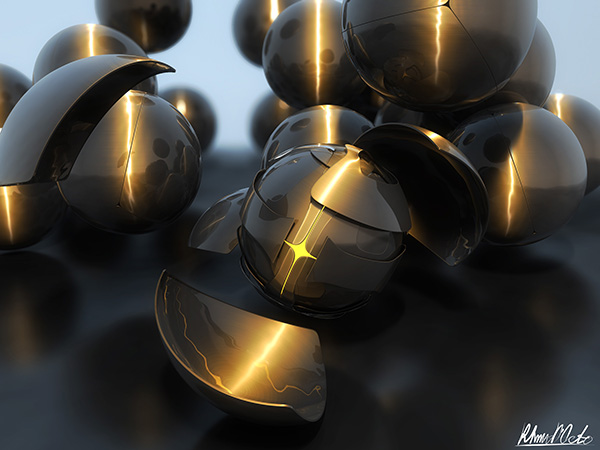 Cinema 4D: Create an Abstract Armored Sphere Scene