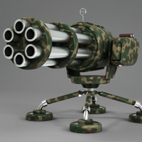 Model a Cartoony Gatling Gun - <i>2 Part Series</i>