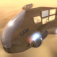 Create a Futuristic Airship Scene in C4D - <i>2 Part Series</i>