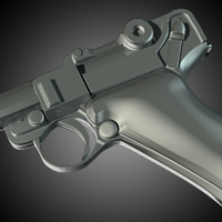 Modeling A Luger P08 Using Subdivision Surfaces - <i>2 Part Series</i>